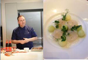 Chef Tim Raue & Scallop Carpaccio with Elderflower