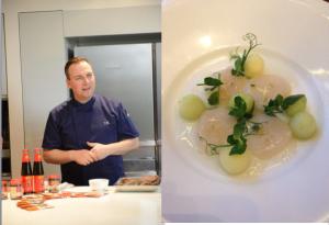 Chef Tim Raue & Scallop Carpaccio with Elderflower